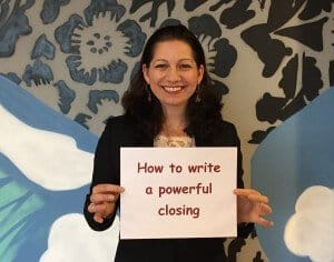 How to Write a Powerful Closing